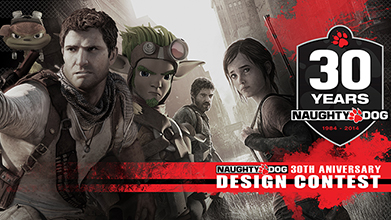 Naughty Dog 30th Anniversary Fan Art Design Contest